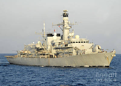 The Royal Navy Frigate Hms Monmouth Poster