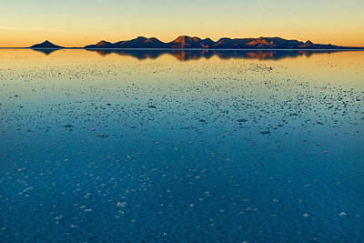 The Salar De Uyuni After The Rains. Republic Of Bolivia. Poster by Eric Bauer