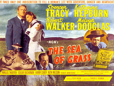 The Sea Of Grass, Spencer Tracy Poster by Everett
