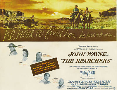 The Searchers, John Wayne, Natalie Poster by Everett