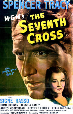 The Seventh Cross, Spencer Tracy, Signe Poster by Everett