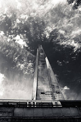 Poster featuring the photograph The Shard And London Bridge by Lenny Carter