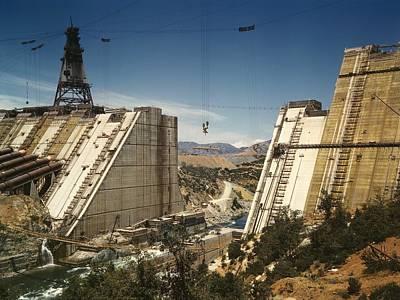 The Shasta Dam Under Construction. It Poster