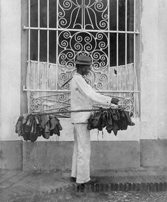 The Shoe Vendor, Photograph Circa Poster by Everett