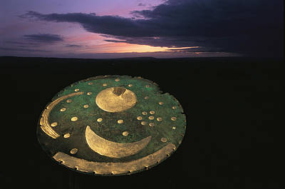 The Sky Disk Against A Poster