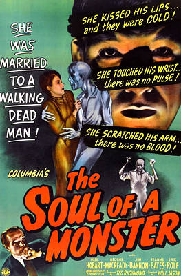 The Soul Of A Monster, George Macready Poster by Everett