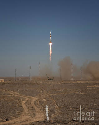 The Soyuz Tma-16 Launches Poster