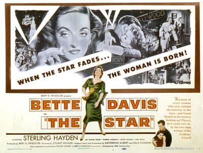 The Star, Bette Davis, Sterling Hayden Poster