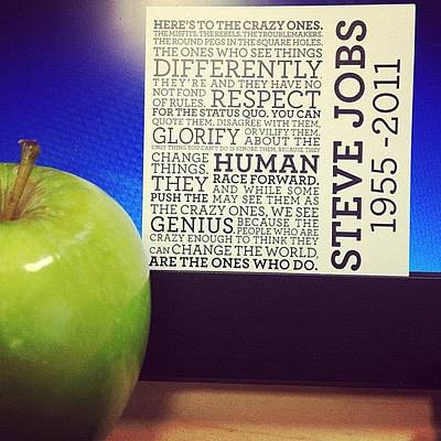 The Steve Jobs Apple. It Was Given By Poster