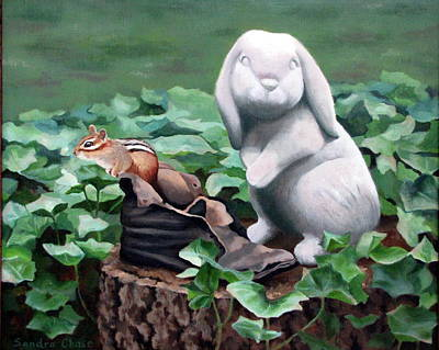 Poster featuring the painting The Stone Rabbit by Sandra Chase