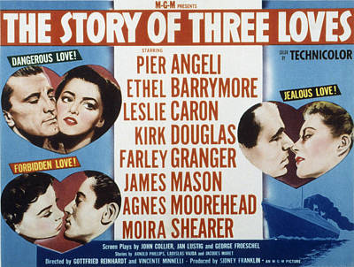 The Story Of Three Loves, Kirk Douglas Poster by Everett
