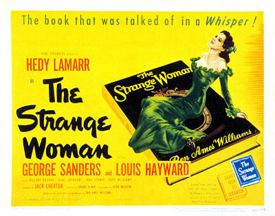 The Strange Woman, Hedy Lamarr, 1946 Poster