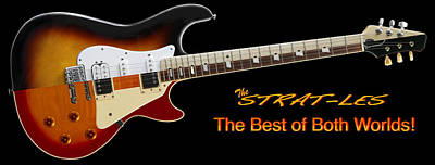 The Strat Les Guitar Poster by Mike McGlothlen