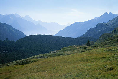 The Swiss Alps Recede Into The Distance Poster