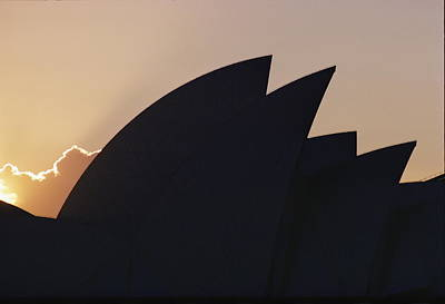 The Sydney Opera House Is Silhouetted Poster