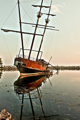 Poster featuring the photograph The Tall Shipwreck by Nick Mares