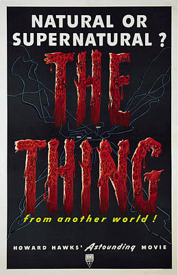 The Thing Aka The Thing From Another Poster by Everett