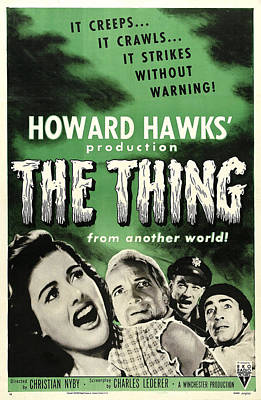 The Thing From Another World, From Left Poster by Everett