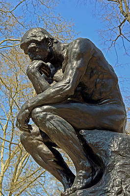 The Thinker By Rodin Poster