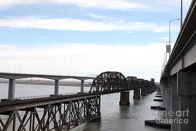 The Three Benicia-martinez Bridges In California - 5d18626 Poster