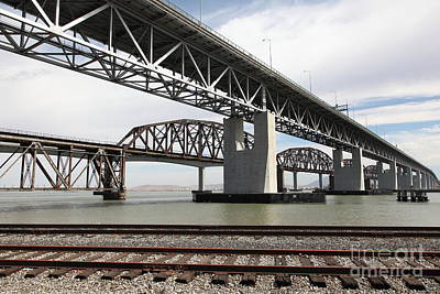 The Three Benicia-martinez Bridges In California - 5d18662 Poster
