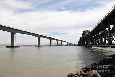 The Three Benicia-martinez Bridges In California - 5d18714 Poster