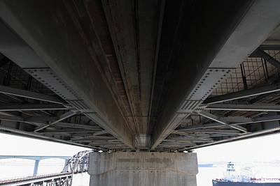 The Three Benicia-martinez Bridges In California - 5d18842 Poster