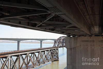 The Three Benicia-martinez Bridges In California - 5d18844 Poster