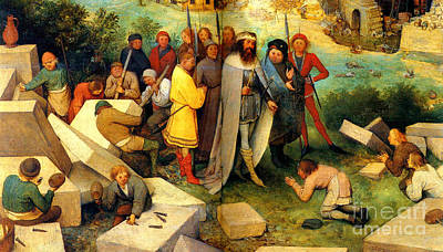 The Tower Of Babel Detail The Visit Of The Lord 1563 Poster