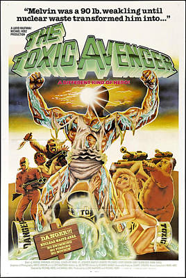 The Toxic Avenger, Mitchell Cohen, 1985 Poster by Everett