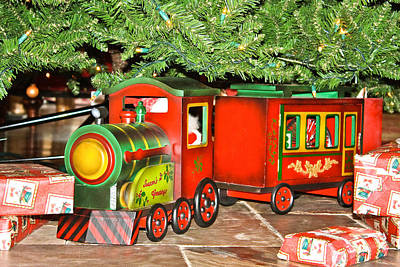 Poster featuring the photograph The Toy Train by Ann Murphy