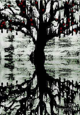 Poster featuring the painting The Tree The Root by Amy Sorrell