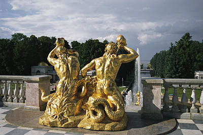 The Triton Fountain At The Peterhof Poster