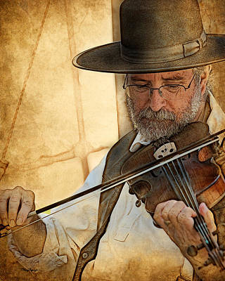 Poster featuring the digital art The Violinist by Thanh Thuy Nguyen