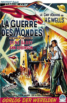The War Of The Worlds Aka La Guerre Des Poster by Everett
