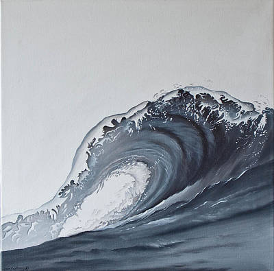 The Wave Poster by Jan Farthing