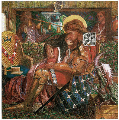 The Wedding Of St. George And Princess Sabra Poster by Dante Gabriel Rossetti