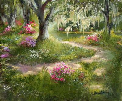 The Winding Path In Spring Poster