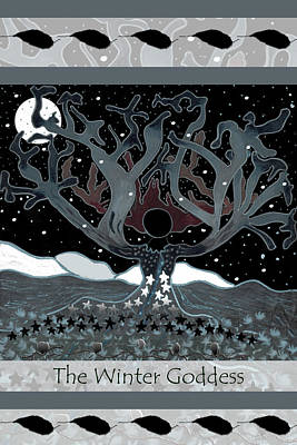 The Winter Goddess Poster by Lori Kirstein