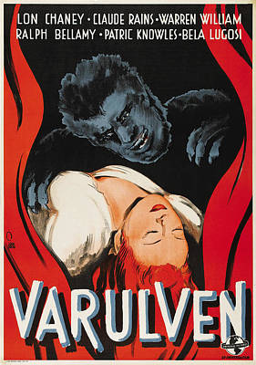 The Wolfman, Aka Varulven, Lon Chaney Poster by Everett