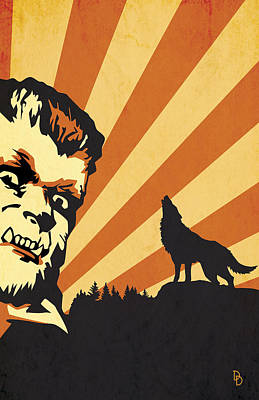 The Wolfman Poster by Dave Drake