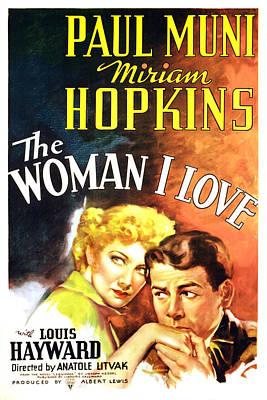The Woman I Love, Miriam Hopkins, Paul Poster by Everett
