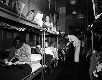 The Wounded Being Cared For Aboard Poster by Everett