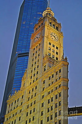 The Wrigley Building Poster by Mary Machare