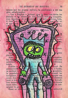The Zombie Lizard King Poster by Jera Sky
