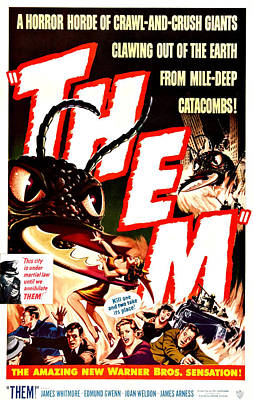 Them, Inset Left Onslow Stevens Poster by Everett