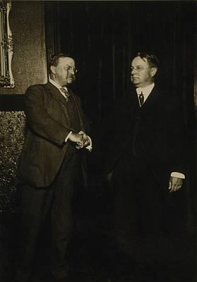 Theodore Roosevelt And Hiram Johnson Poster by Everett