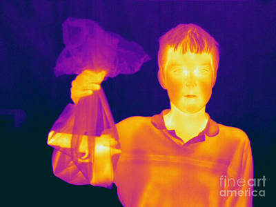 Thermogram Of A Hidden Gun Poster by Ted Kinsman