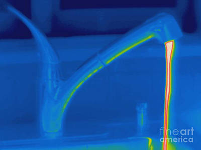 Thermogram Of Hot Water And A Faucet Poster by Ted Kinsman