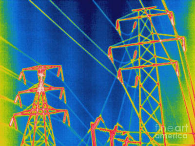Thermogram Of Power Lines Poster by Ted Kinsman